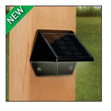 Deck & Wall Solar Light - Black
